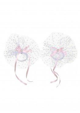 LARMINI Резинка LR-AC-E-K-2-GOR-FAT-B-S, цвет белый/розовый