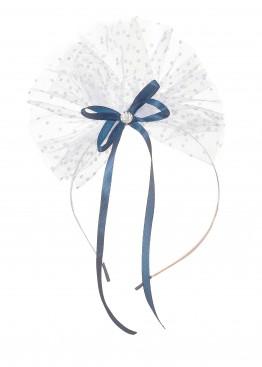 LARMINI Ободок LR-AC-R-GOR-FAT-B-S, цвет белый/темно-синий