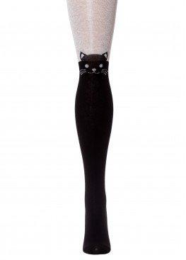 LARMINI Колготки LR-C-CAT-000001, цвет черный/серый меланж