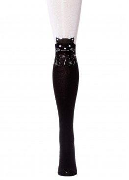 LARMINI Колготки LR-C-CAT-162808, цвет черный/белый