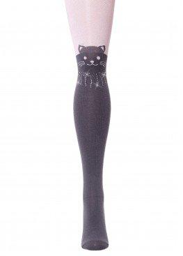 LARMINI Колготки LR-C-CAT-162808, цвет серый/розовый