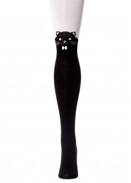 LARMINI Колготки LR-C-CAT-B-B-S-B, цвет черный/белый
