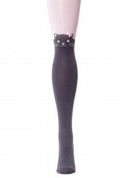 LARMINI Колготки LR-C-CAT-B-B-S-G, цвет серый/розовый