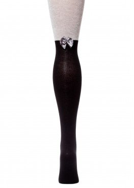 LARMINI Колготки LR-C-CAT-B-SLL-S, цвет черный/серый меланж