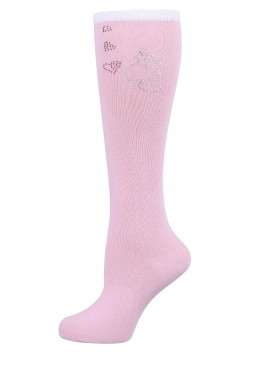 LARMINI Гольфы LR-G-162938, цвет розовый/белый