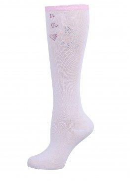 LARMINI Гольфы LR-G-162938, цвет белый/розовый