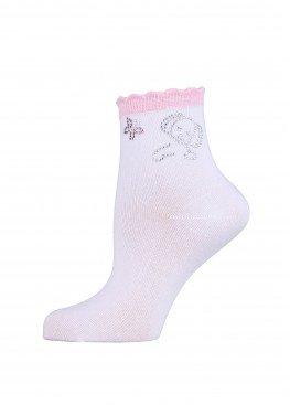 LARMINI Носки LR-S-162878, цвет белый/розовый